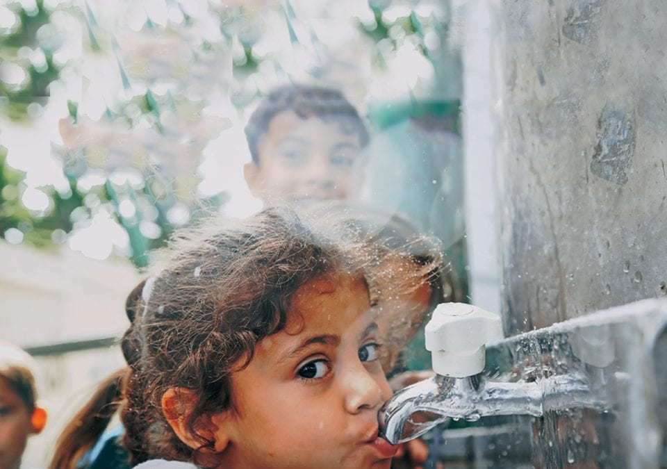Trucking Safe Drinking Water to Schools in Gaza
